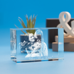 Mother's Day Brick Crystal, 3D Engraved