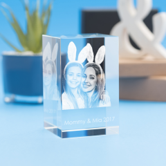 Mother's Day Tower Crystal, 3D Engraved
