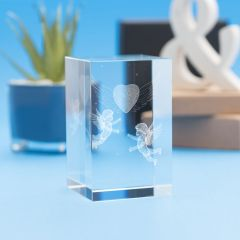 Angels Heart Religious Designs Tower Crystal, 3D Engraved