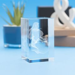Virgo Zodiac Sign Tower Crystal, 3D Engraved